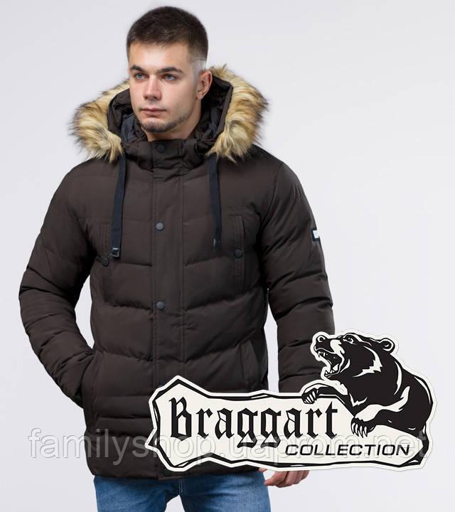 Braggart Youth   Зимняя куртка молодежная 25370 кофе