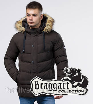 Braggart Youth   Зимняя куртка молодежная 25370 кофе , фото 2