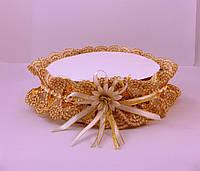 Подвязка кружево золото