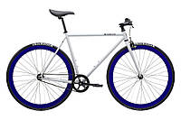 Велосипед Pure Fix Cycles Whiskey58 Сіра рама 58 см з синіми колесами, фото 1