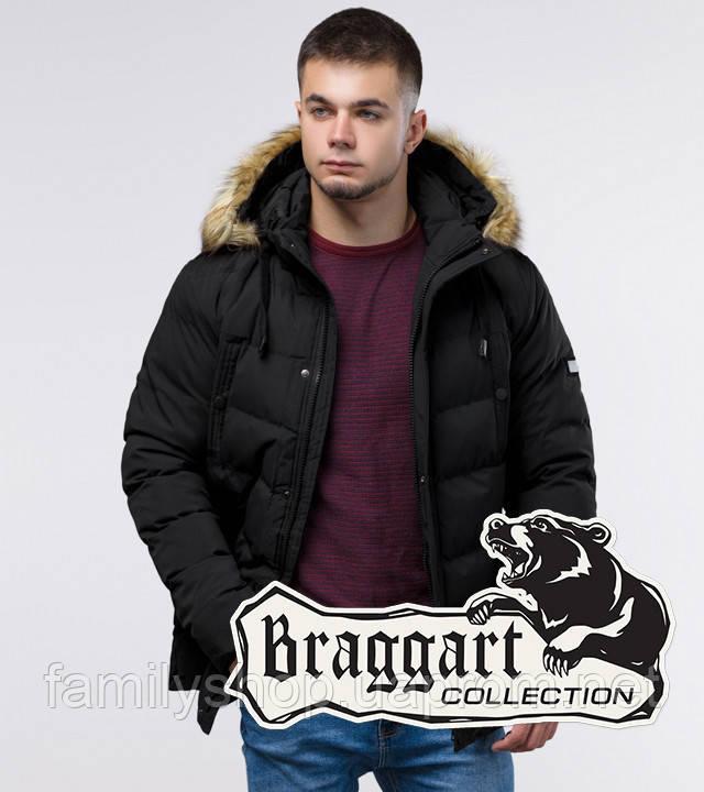 Braggart Youth | Молодежная зимняя куртка 25370 черная