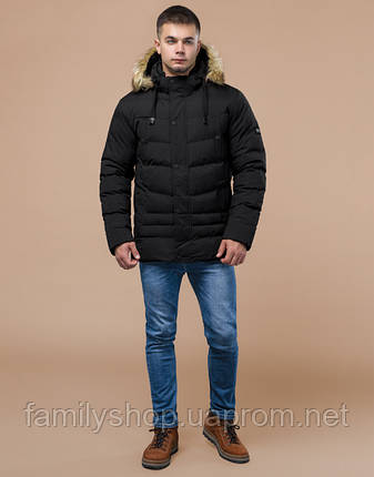 Braggart Youth | Молодежная зимняя куртка 25370 черная, фото 2