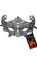 Ажурная карнавальная маска черная А-1071