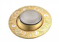 Светильник точечный поворотный DR 50110R 60Вт Е14 хром-золото