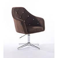 Кресло HROVE FORM 830 коричневый велюр