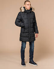 Braggart Youth | Зимняя куртка молодежная 13-25 лет 25070 черная, фото 2