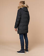 Braggart Youth | Зимняя куртка молодежная 13-25 лет 25070 черная, фото 3