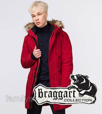 Braggart Youth   Зимняя молодежная парка 25690 красная, фото 2