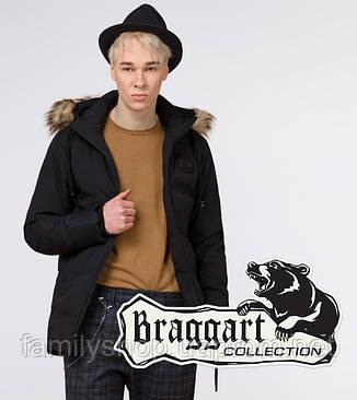 Braggart Youth | Куртка зимняя молодежная 25550 черная, фото 2