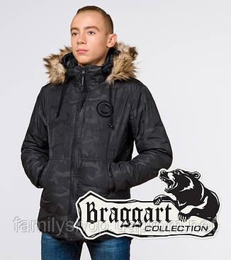 Braggart Youth   Зимняя куртка молодежная 25310 черная, фото 2