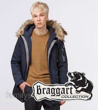 Braggart Youth | Парка молодежная зимняя 13-25 лет 25520 темно-синяя, фото 2
