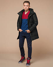 Braggart Youth | Зимняя куртка молодежная 25340 темно-зеленая, фото 2