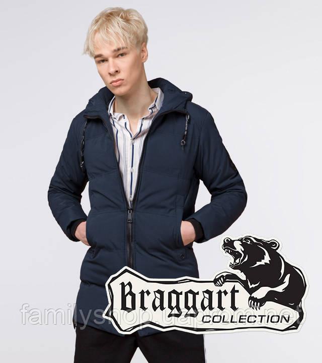 Braggart Youth | Зимняя куртка молодежная 25400 темно-синяя