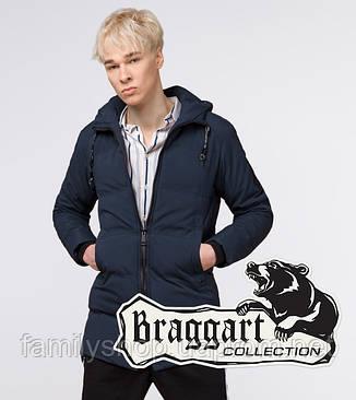 Braggart Youth | Зимняя куртка молодежная 25400 темно-синяя, фото 2