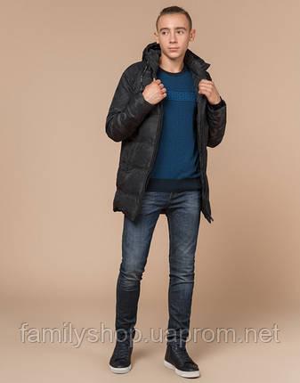 Braggart Youth | Куртка зимняя молодежная 25060 черная, фото 2