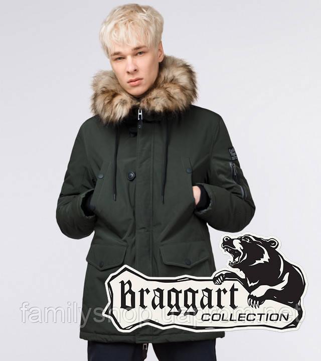 Braggart Youth | Молодежная парка зимняя 25520 темно-зеленая