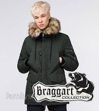 Braggart Youth | Молодежная парка зимняя 25520 темно-зеленая, фото 2