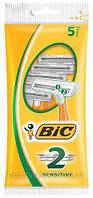 BIC® мужские одноразовые станки BIC® 2 Sensitive 1уп/5 шт, фото 1