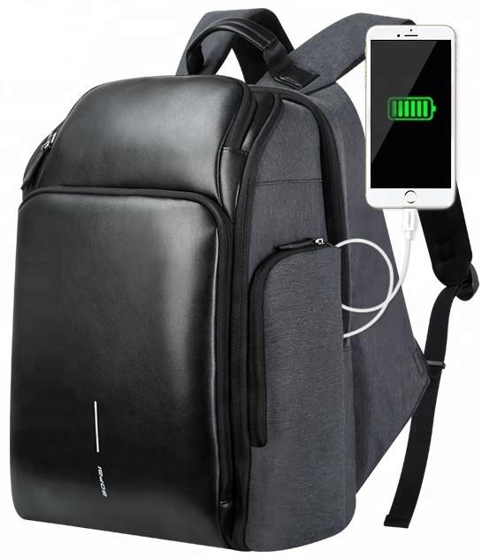 Дорожный рюкзак антивор Bopai 851-010128 с USB портом и отделением для ноутбука, 25л