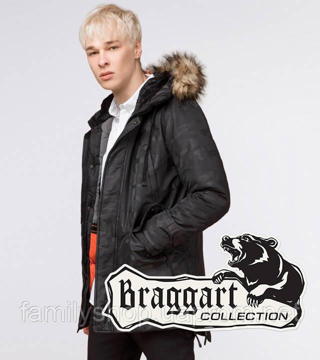 Braggart Youth | Парка мужская зимняя 25620 черная