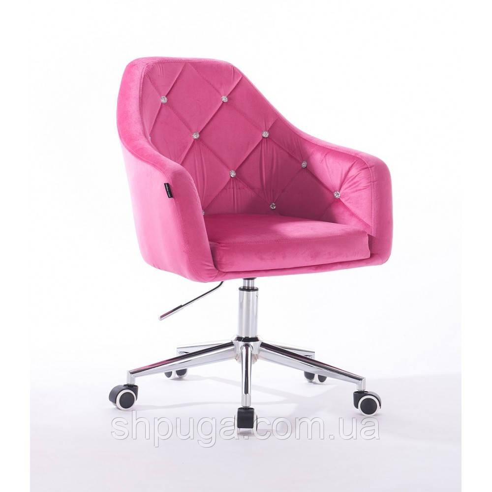 Кресло  830 малиновый велюр