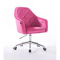 Кресло  830 малиновый велюр, фото 1