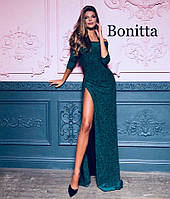 Новинка 2018-2019!Нереально красивое, женское, вечернее платье в пол из мерцающего люрекса РАЗНЫЕ ЦВЕТА, фото 1