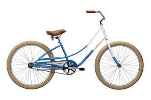 Велосипед Pure Fix Cycles Kusshi Жіночий синій з білим.