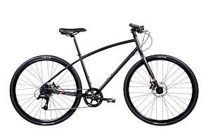 Велосипед Pure Fix Cycles Wright Large Матова чорна рама з чорними колесами