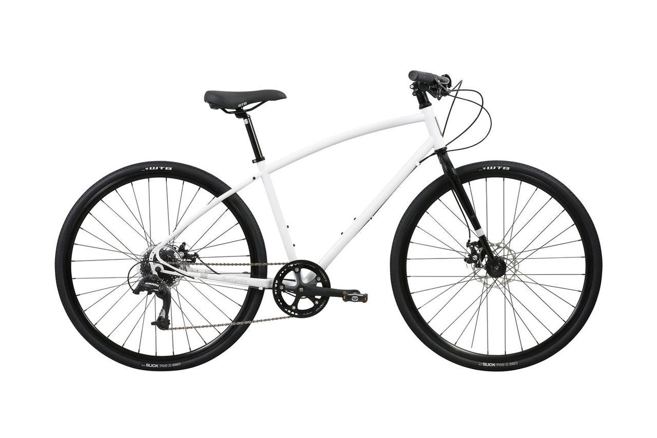 Велосипед Pure Fix Cycles Frey Large Біла рама з чорними колесами