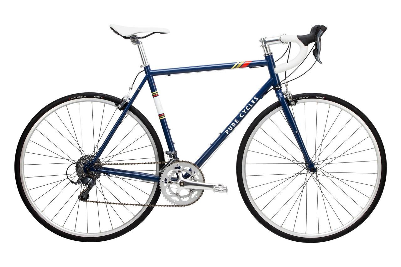 Велосипед Pure Fix Cycles Bonette 53 Синя рама з сріблястими колесами
