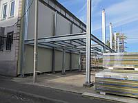 Пристройка к зданию СРЗ, сборные разборные здания, конструкции