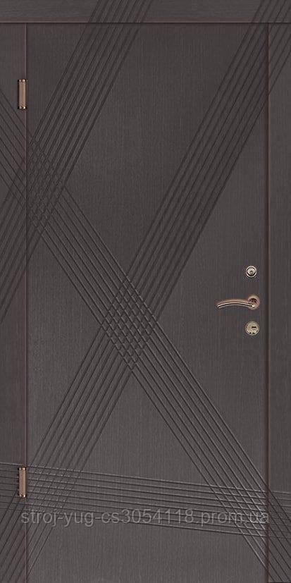 Дверь входная металлическая «Премиум», модель Диагональ 850*2040*70