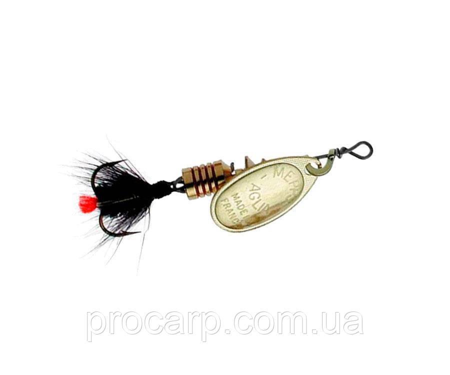 Блесна Mepps Aglia Mouche Gold/Black Fly 2.5г