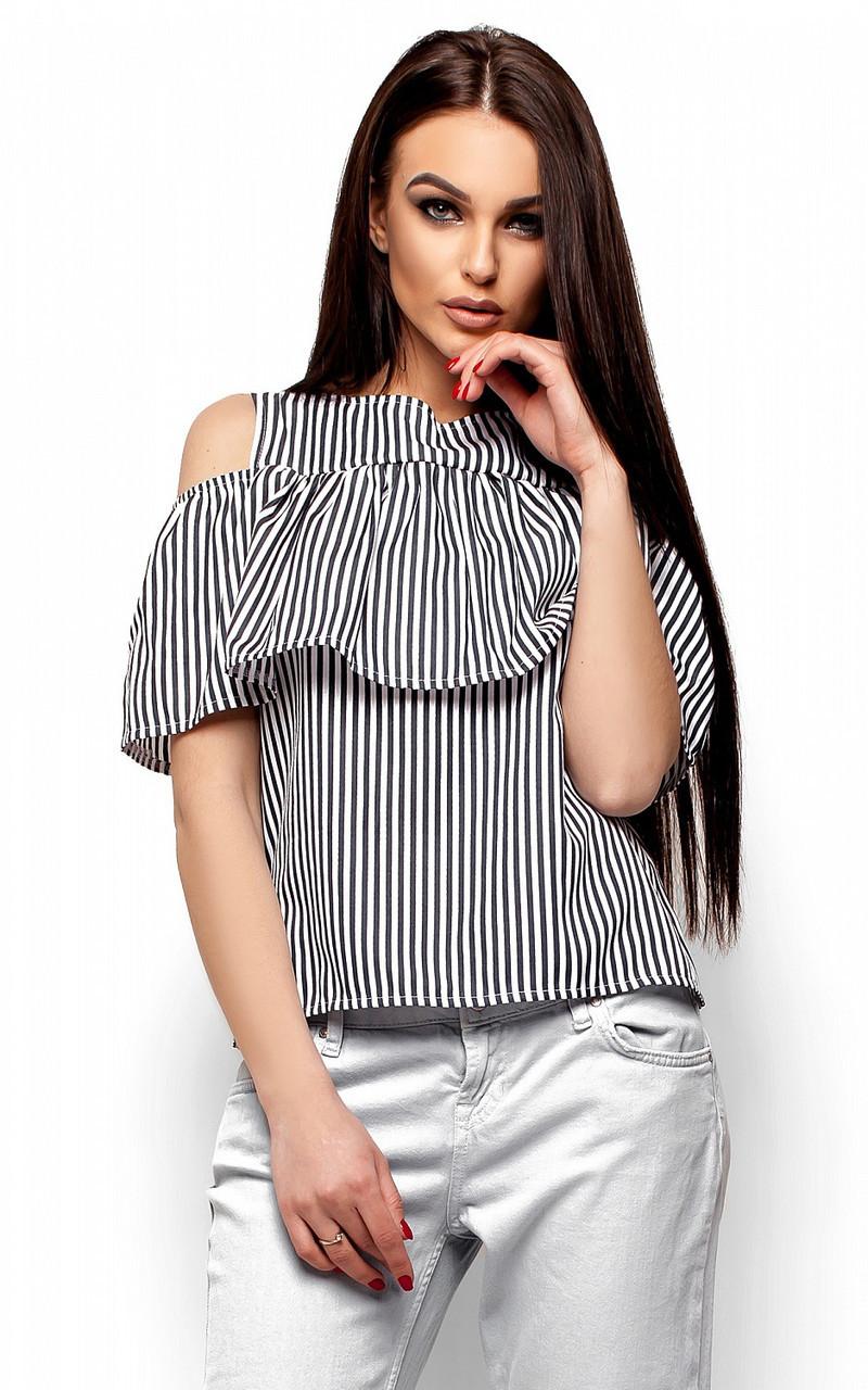 S (42-44) / Молодежная блузка в полоску Kair, черный