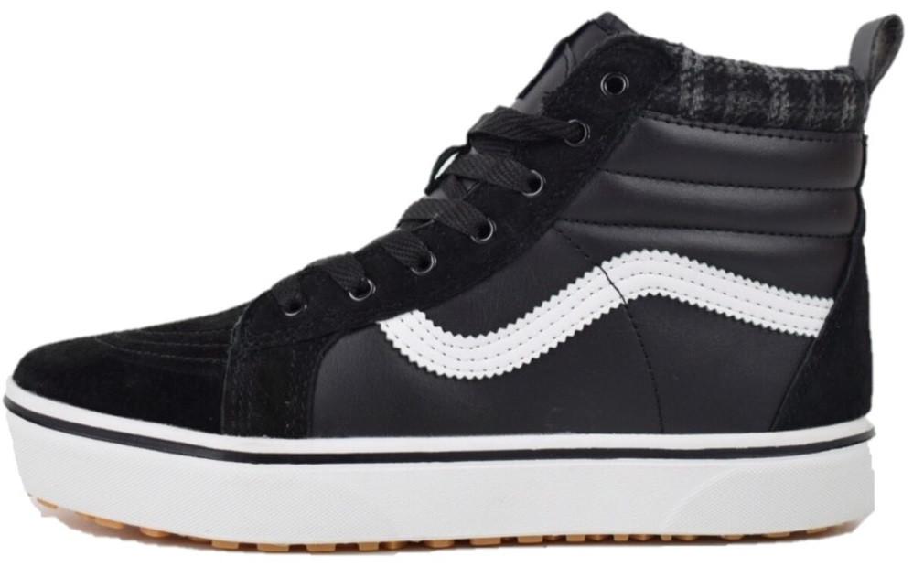 Зимние мужские кеды Vans Vans Black (Ванс, черные) на меху - Магазин обуви 3b52a32666b