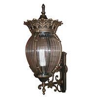 Светильник садово-парковый декор PALACE F01 60Вт Е27 темная медь\прозрачное стекло
