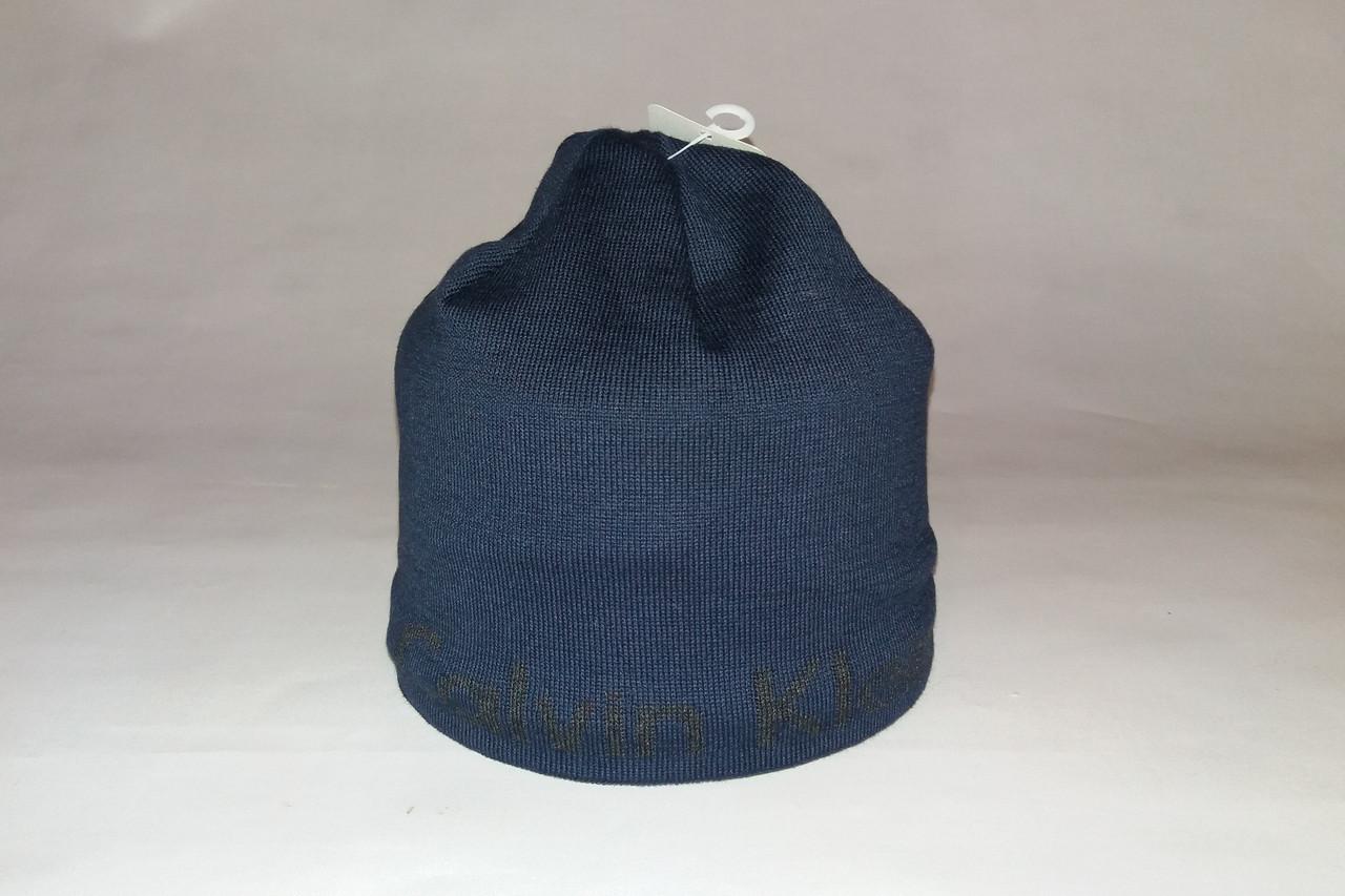 fbc0bc761e37 Шапка мужская CALVIN KLEIN 160-21 тёмно-синяя: продажа, цена в Днепре.  шапки от