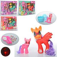 Игровой набор фигурка Литл Пони (my Little Pony) 3 шт - 19 см (музыка, всет), 10 см и 6 см, разные цвета, 3904