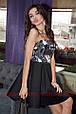 Платье без бретелей с пайеткой и пышной юбкой , фото 4
