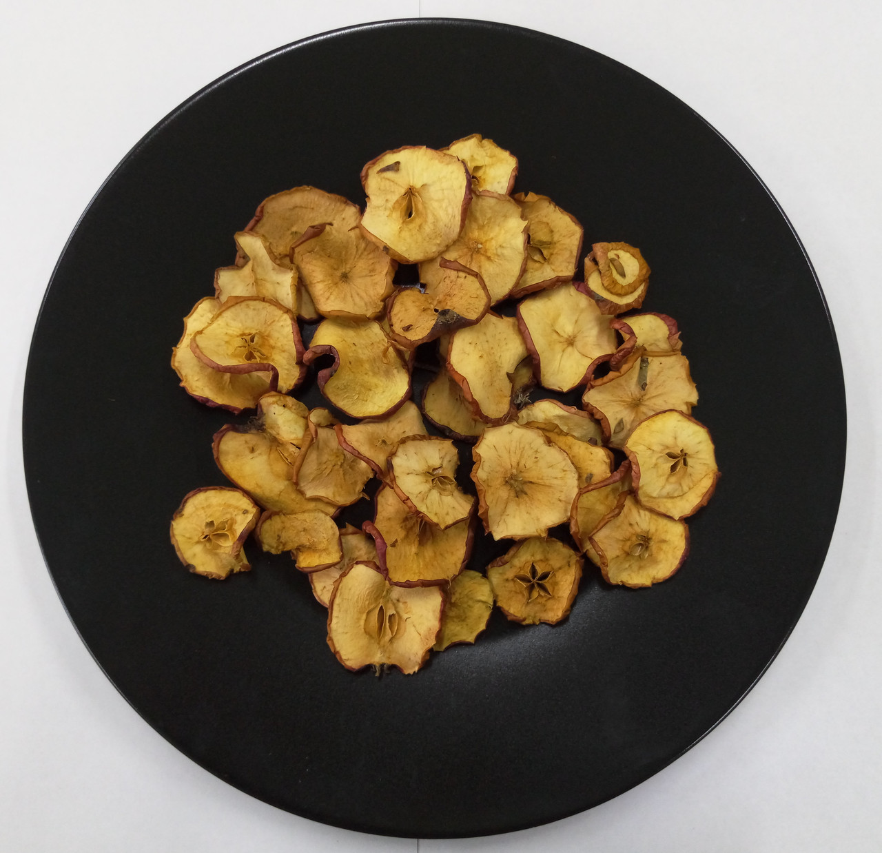 Яблоки сушеные кольцами с кожурой и семенной коробочкой 100г