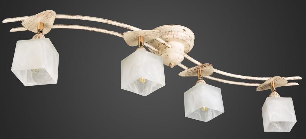 Люстра с квадратными поворотными плафонами бежевая AR-004600 4 лампы