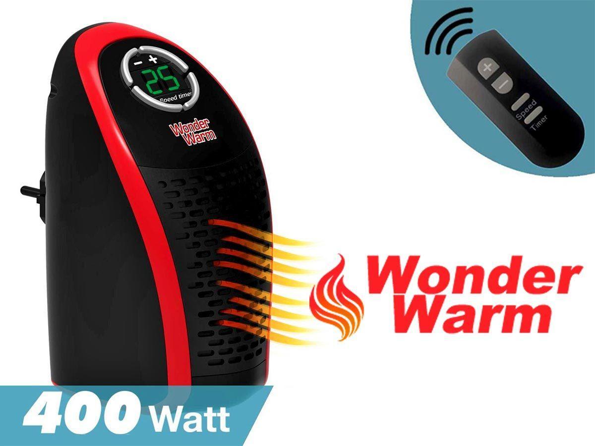 Портативний обігрівач Wonder Warm 400W з пультом, міні тепловентилятор