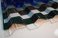 Монолитный профилированный поликарбонат Borrex (Борекс) 1,05*4 м 0,8 мм Прозрачный
