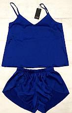 Шелковый комплект майка и шортики  размер 48-50, фото 3