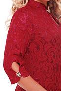 Женское коктейльное нарядное платье Лира размер 54,56,58 / цвет бордо большие размеры, фото 4