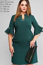 Женское однотонное платье с рукавами-воланами (3175 lp), фото 3