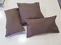 Комплект подушек  коричневые структура мешковинки, 3шт, фото 1