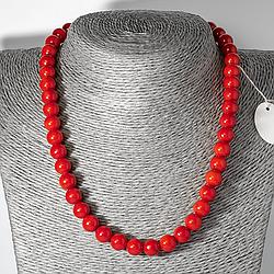 Червоний корал, Ø9 мм., намисто, 125ОК
