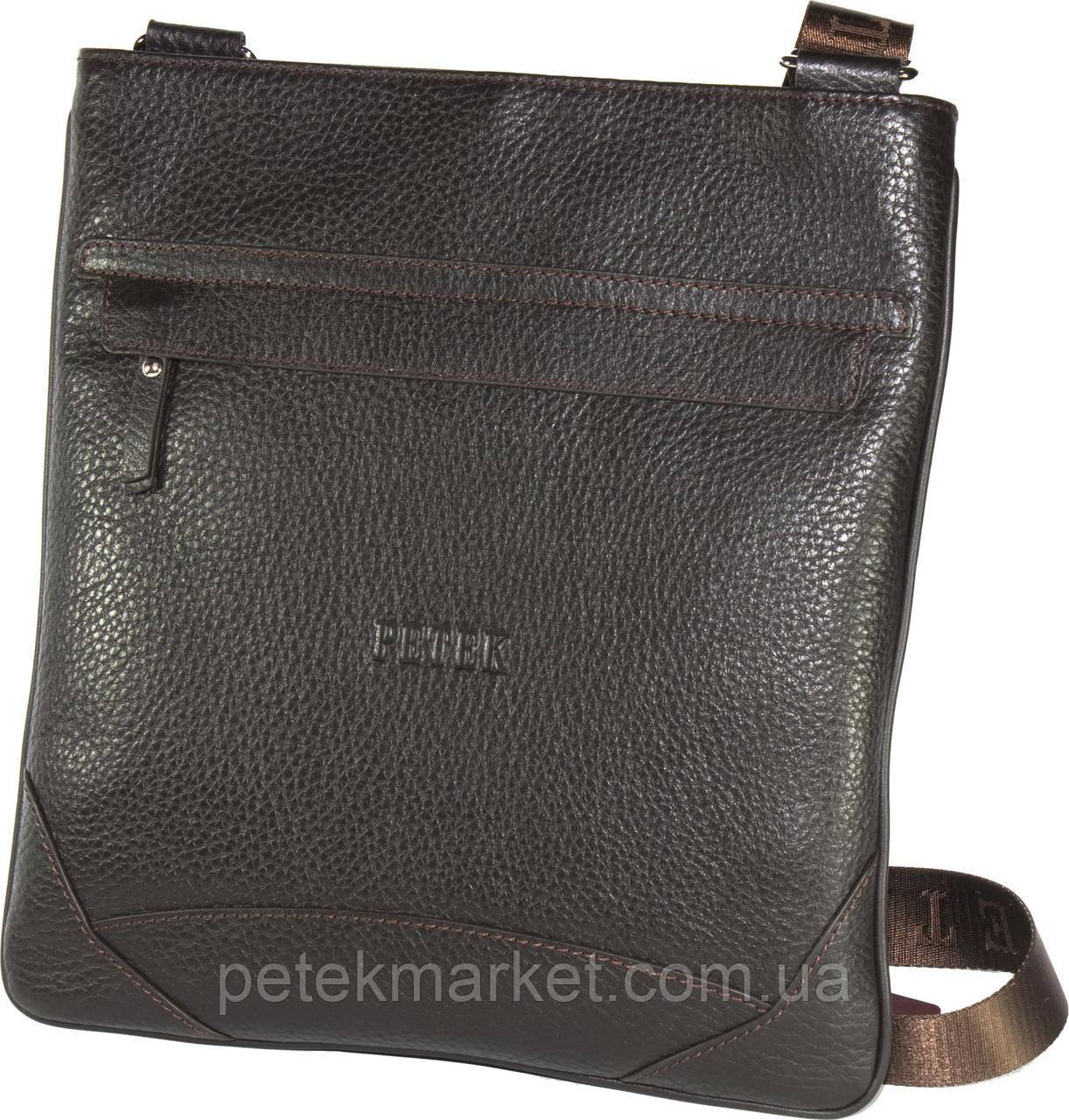 Кожаная мужская сумка Petek 3876